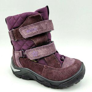 Ecco Purple Goretex Lined Winter Snow Boots 24 EU